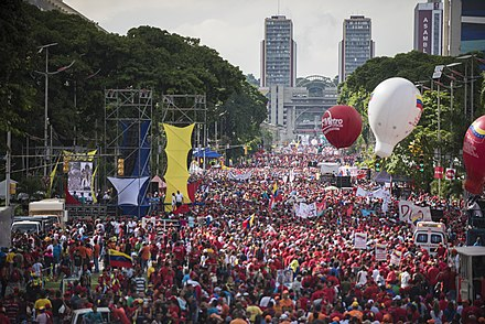 Anti-government protests in Caracas.