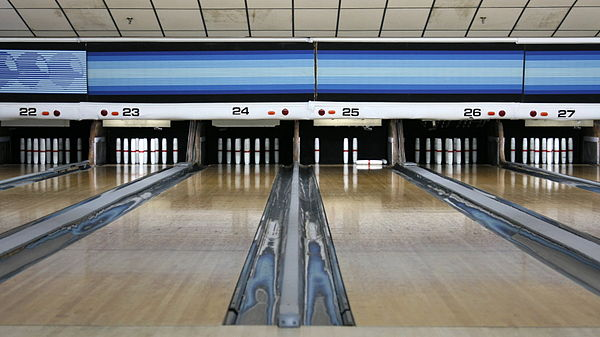 Candlepin bowling alley in Woburn, Mass.