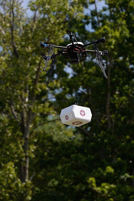 A delivery drone.