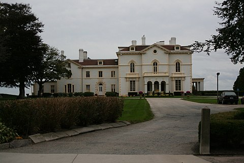 Larry Ellison's Beechwood estate, in Newport.