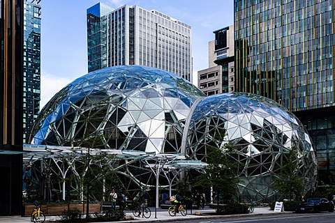 """The Amazon Spheres'' at the company's headquarters, in Seattle."