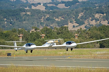 The electric    Pipistrel Taurus G4    taking off from the    Sonoma County Airport   , in California
