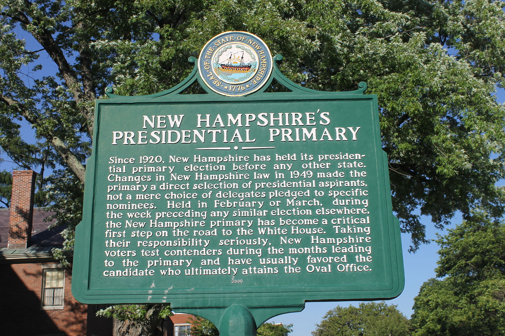 Plaque in Concord, N.H.    — Photo by Billy Hathorn