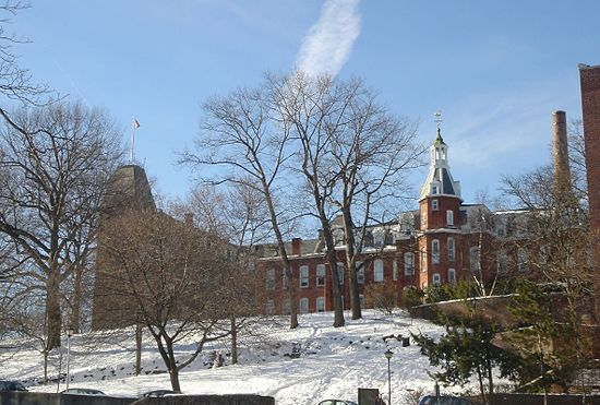On the WPI campus.