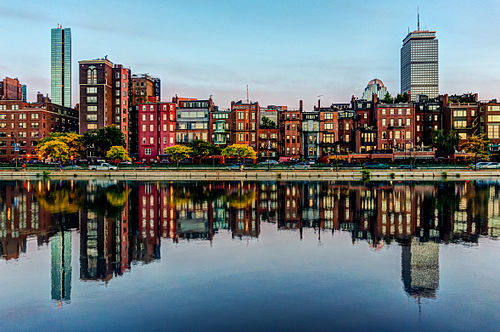 Boston's Back Bay section as seen from across the Charles River.