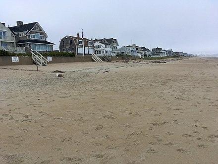 Moody Beach, in Wells, Maine, in the off-season.