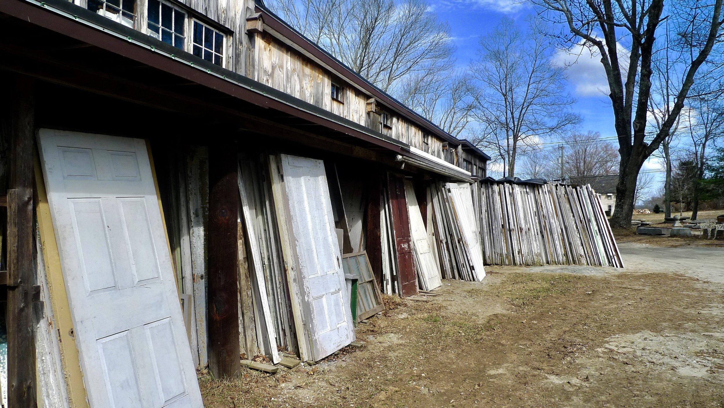 Some of Rzeznikiewicz's 1,000 doors