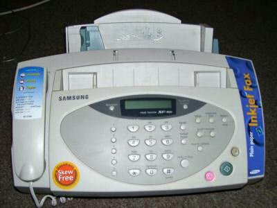 A 20-year-old fax machine