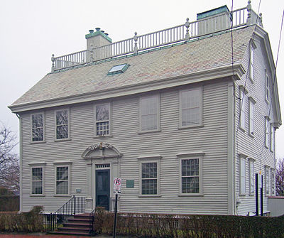 Hunter House (built in 1748), in Newport's Point neighborhood, which is endangered by rising sea levels.