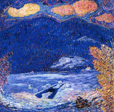 """""""The Ice Hole'', by Maine painter and writer Marsden Hartley (1877-1943)"""