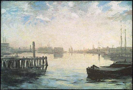 """Gloucester Harbor"""" (circa 1877), by Richard Morris Hunt"