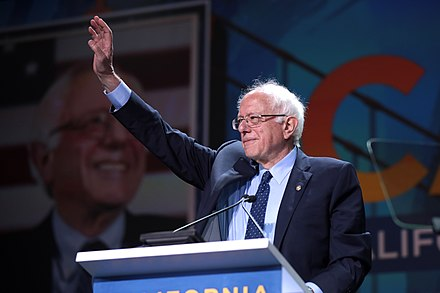 Bernie Sanders campaigning this year