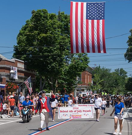 The head of the 2017 Bristol, R.I., Fourth of July Parade. The parade is said to be the nation's oldest, with the first one in 1785.