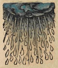 Rain, depicted in the 1493    Nuremberg Chronicle