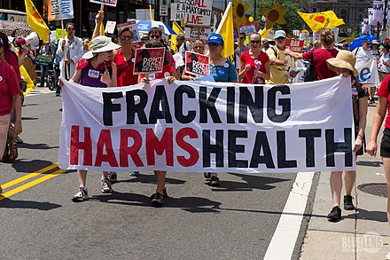 2016 march in Philadelphia. There's extensive fracking underway in Pennsylvania.
