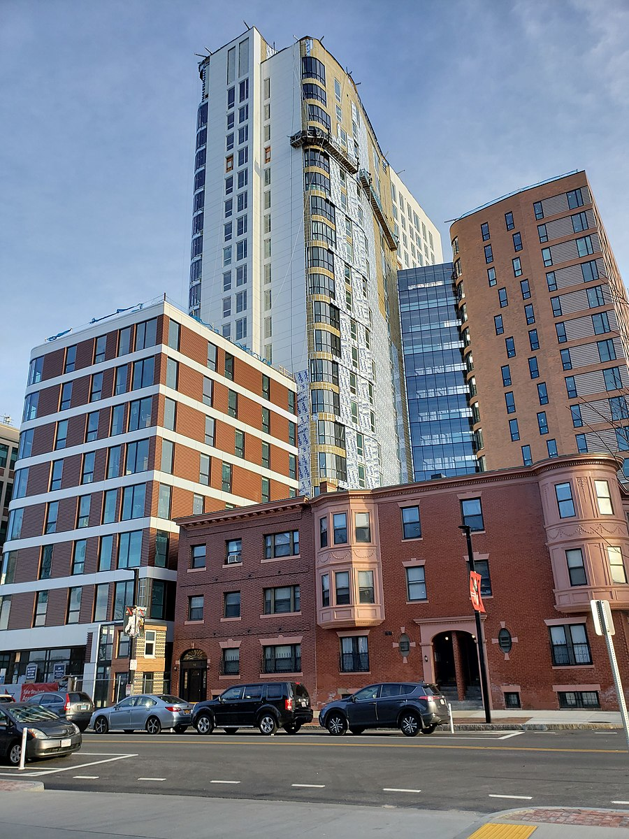 High-rise and upscale LightView apartment complex, for college students in Boston