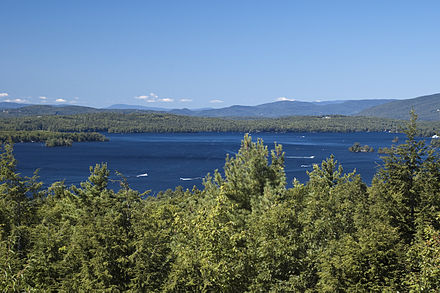 L   ake Winnipesaukee    and the    Ossipee Mountains   , in central New Hampshire    — Photo by Don Kasak