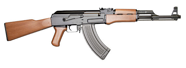 AK-47 Type 3A with ribbed stamped-steel magazine