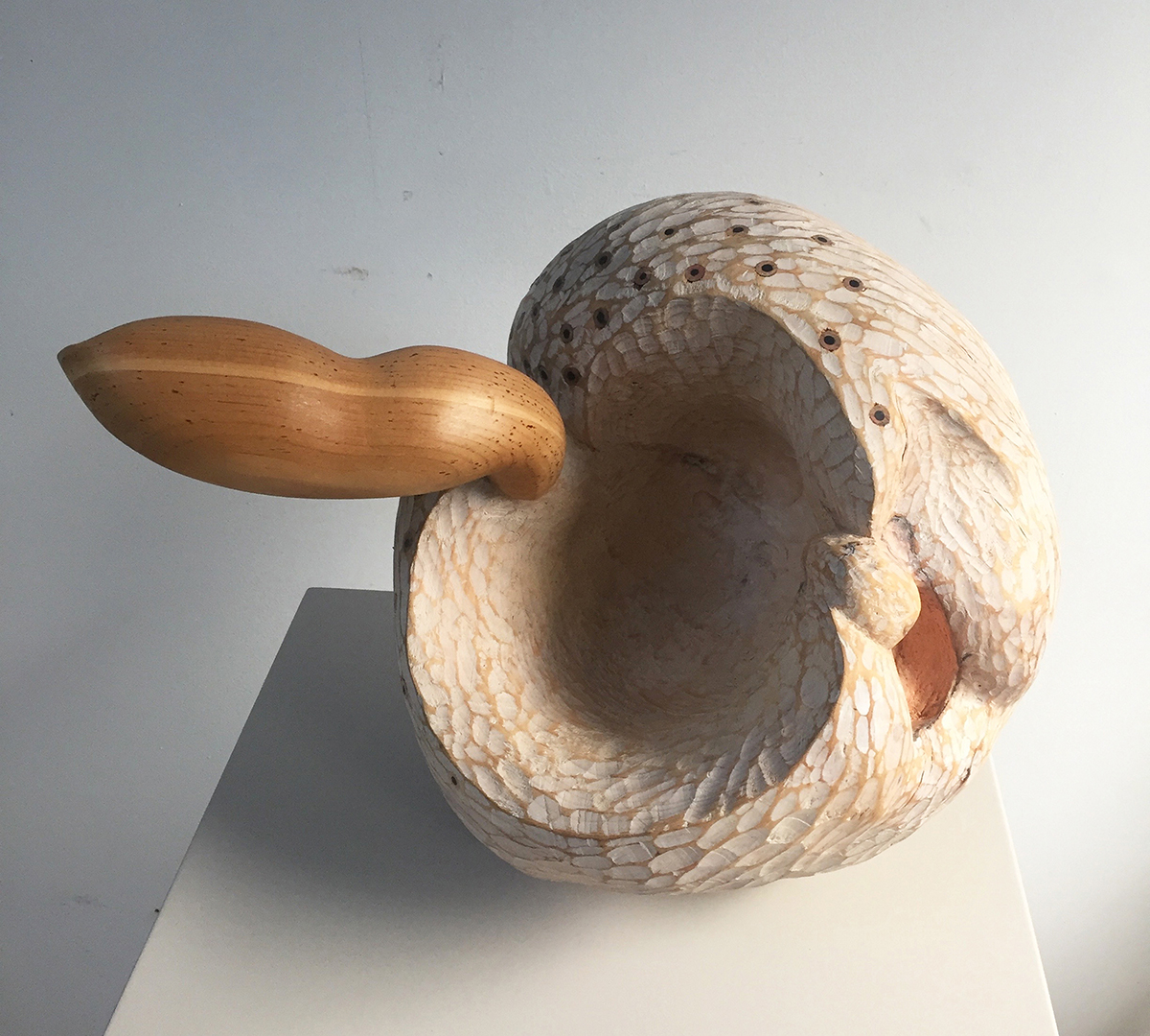 """Work by Susan Lyman in her Boston Sculptors Gallery show """"Washashore,'' Oct. 2 to Nov. 3. She creates art from driftwood."""