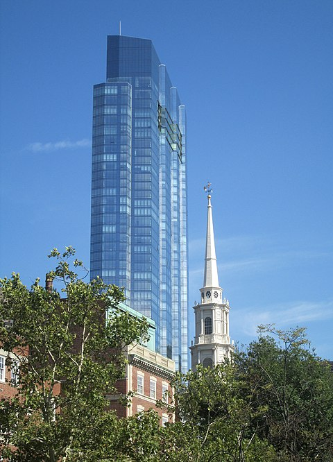 The 60 story Millennium Tower, in Boston, apparently a haven for flight capitalists from abroad.