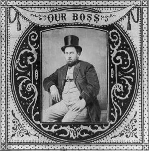 William Tweed, in 1869, the legendary boss of the Democrats' Tammany Hall machine, in New York City, after the Civil War.