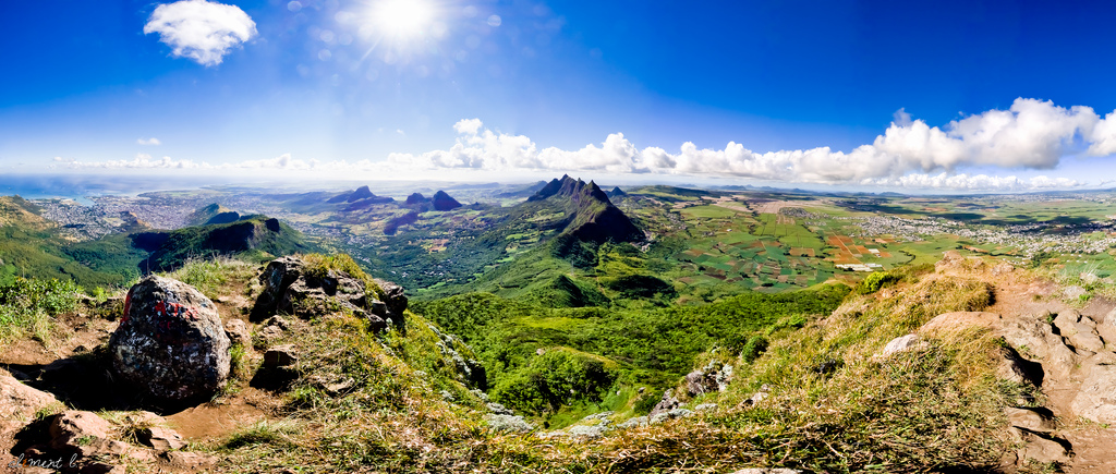 A long way from Connecticut: A view of the Island of Mauritius, the main island in the Republic of Mauritius