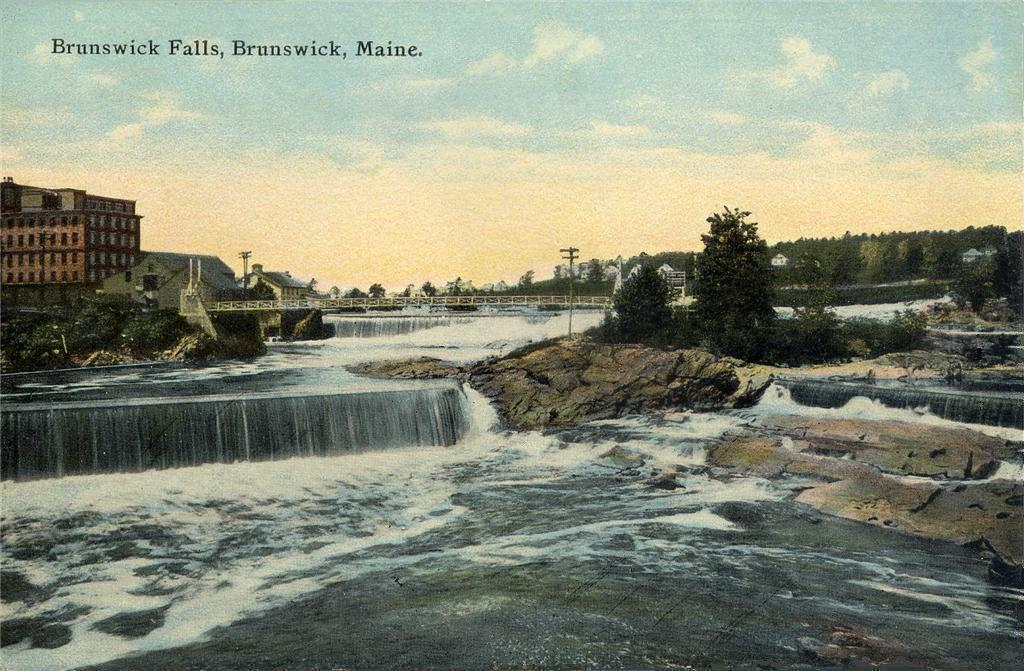 An old postcard from Brunswick, where Bowdoin College and Elizabeth Strout (when she's not in her New York City home) reside.