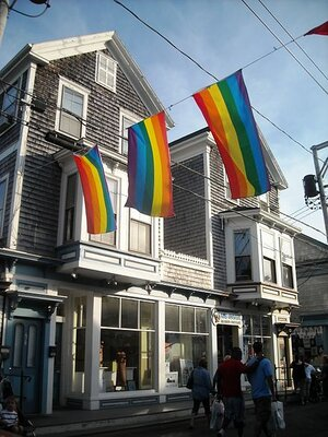 On Commercial Street in Provincetown.