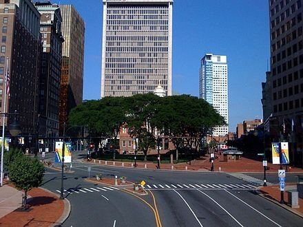 In downtown Hartford