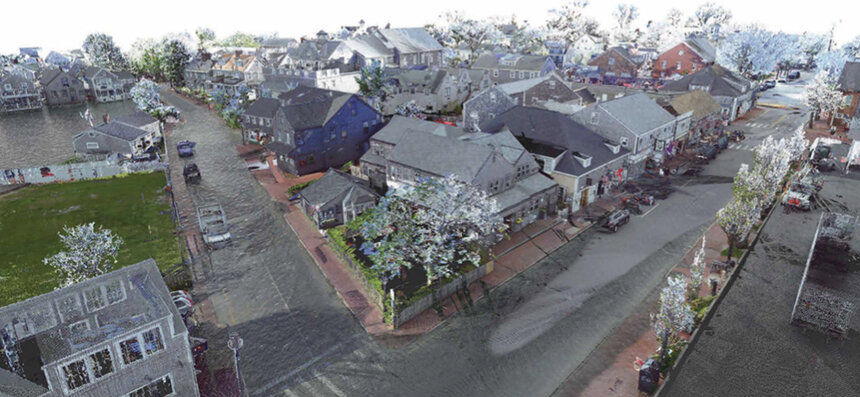 Marty Hylton's image of Easy and Broad streets, Nantucket, in 2040