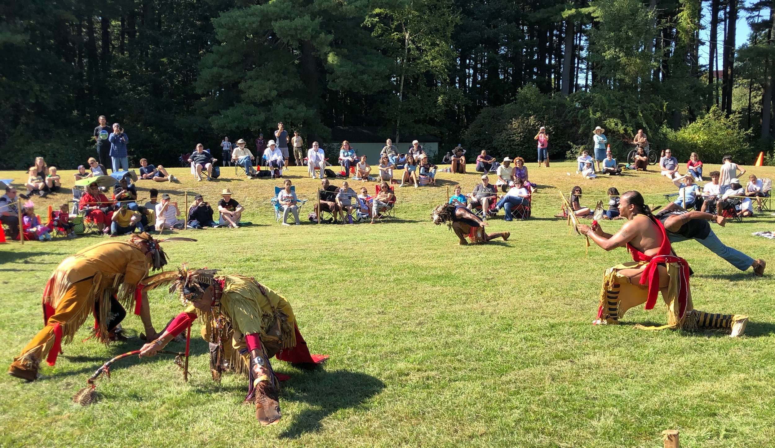 Dance at Pow Wow of Natick {Mass.) Praying Indians Sept. 28    — Photo by Tom Paine