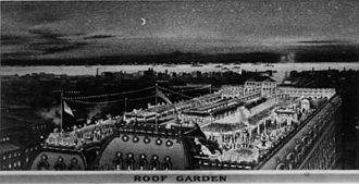 Hotel Astor (in New York) roof garden in 1905