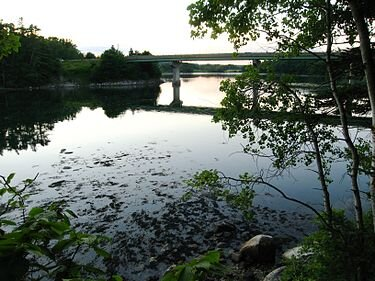 The Damariscotta River is the center of Maine's burgeoning oyster farming sector.