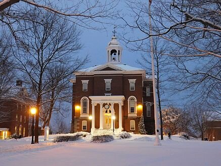 Bates College's oldest academic building,    Hathorn Hall    , was built in 1856 by Boston architect    Gridley J. F. Bryant   .