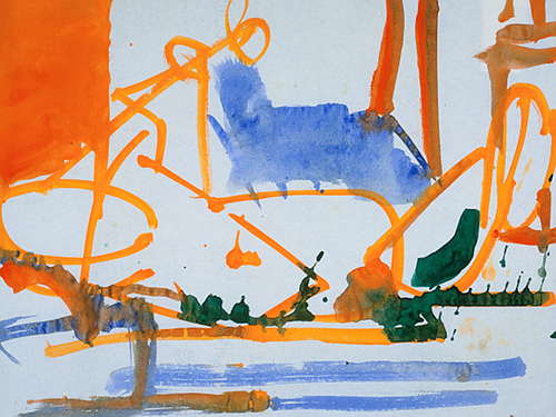 """Untitled watercolor on paper, by Hans Hoffman (1880-1966), in the group show """"Color Beyond Description, at the Provincetown Art Association and Museum through Nov. 3. This painting courtesy of The Renate, Hans and Maria Hofmann Trust, © Artist Right Society (ARS), New York.      The curator explains: """"This exhibition features the work of Charles Hawthorne, Hans    Hofmann    and Paul Resika   ,    artists who each used color to striking effect. Hawthrone is renowned as the great teacher of the early Provincetown Art Colony. He painted with both oil and watercolors, with his watercolors in particular demonstrating the movement of color and form. Hofmann is also known for his use of color in his crayon drawings and watercolor paintings. It's in those mediums where his use of color in space is at its most fluid. Resika, a student of Hofmann's, is a colorist painter who combines the techniques of both Hofmann and Hawthorne with his own eye for vibrant color and use of gouache alongside watercolor.''"""