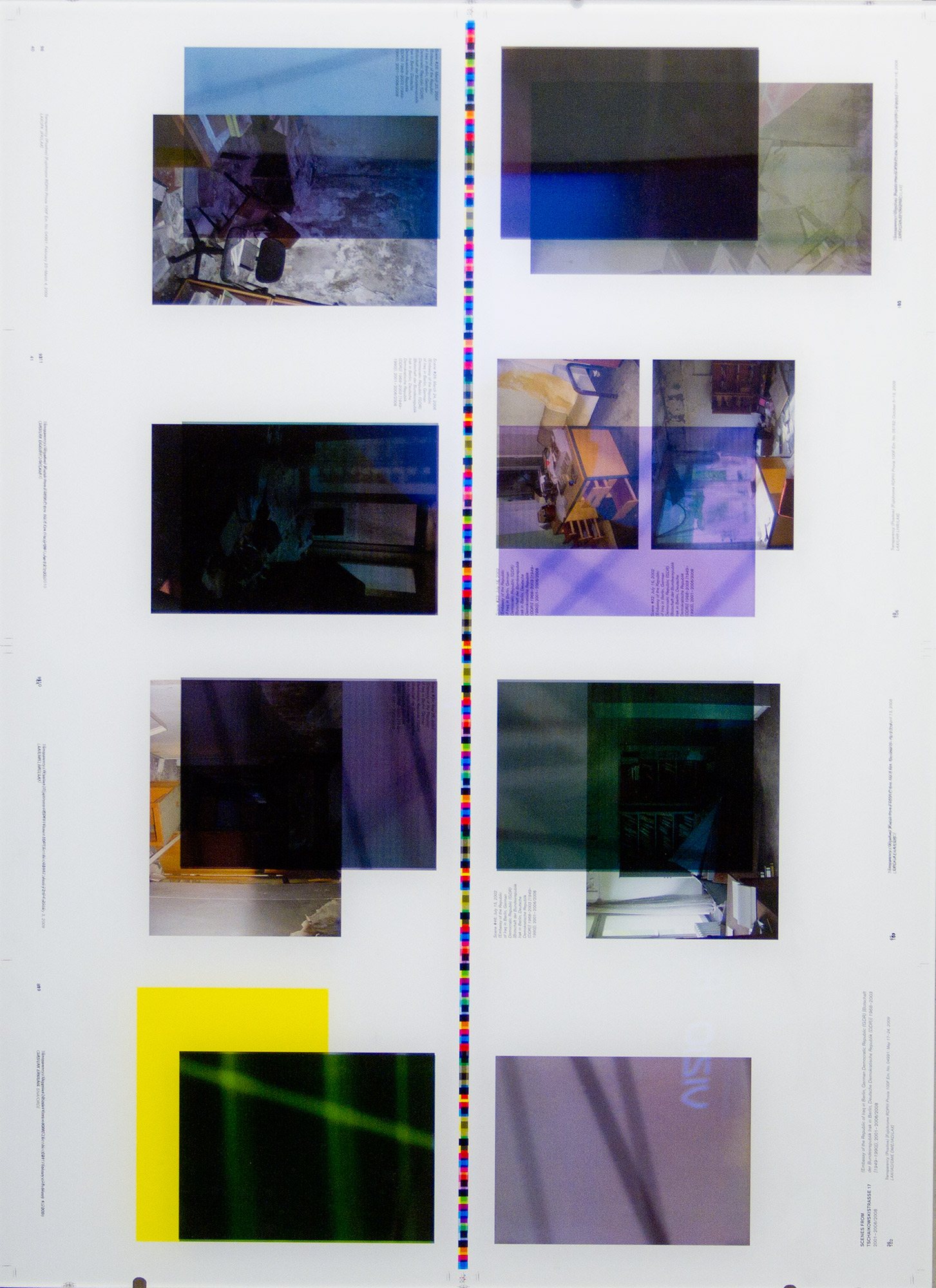 Make-Ready 1: Uncut Signatures [Walead Beshty: Selected Correspondences 2001–2010, Bologna: Damiani Editore, 2010, Grafiche Damiani, Bologna, Italy, July 4–6, 2010]    2015   Four-color offset on coated paper  34 3/4 x 25 1/4 inches   Make Readies, 2010–