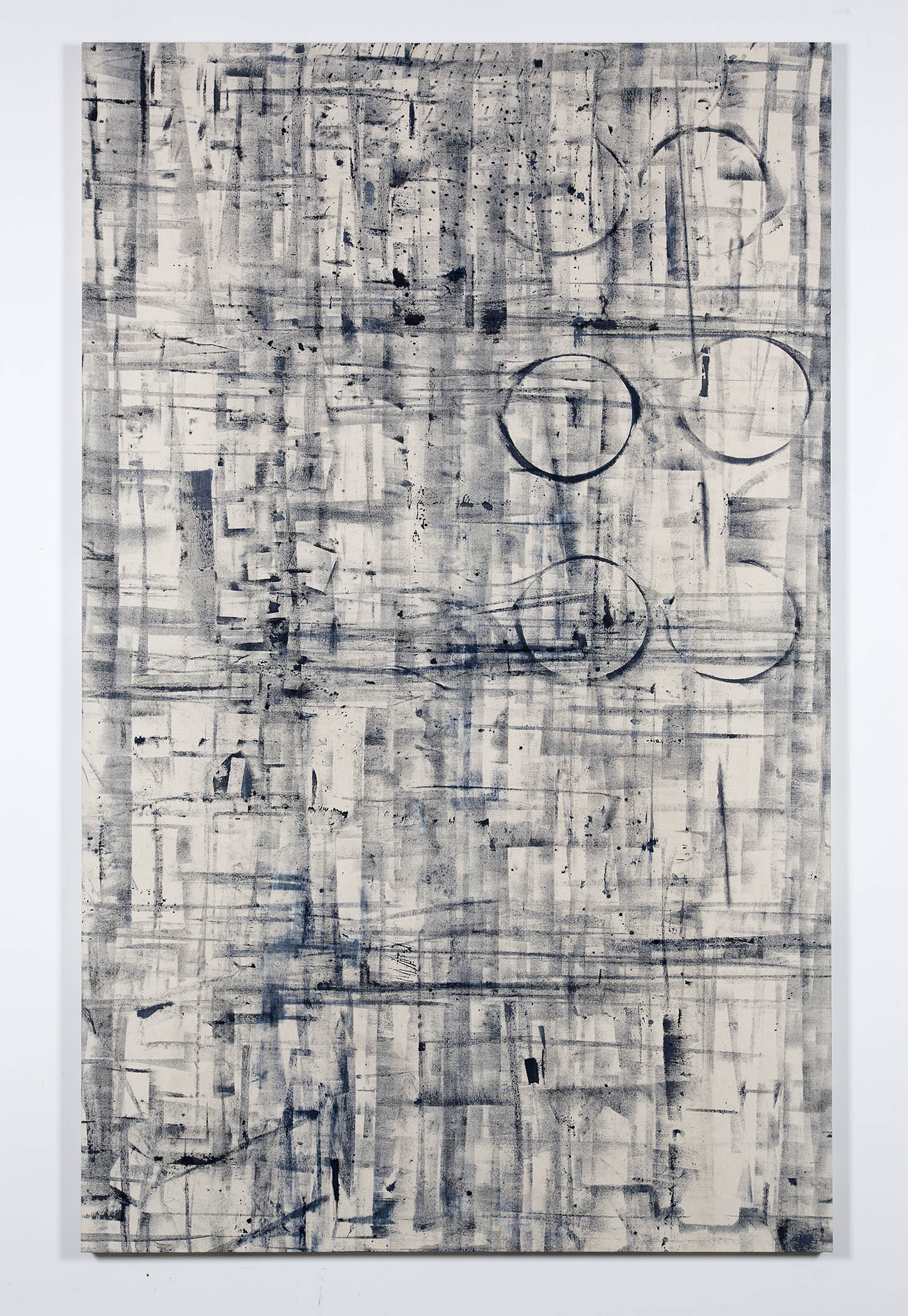 Marginalis (Los Angeles, California, May 1–August 1, 2014)    2014   Cyanotype chemistry on canvas  89 x 55 inches   Cyanotype Paintings, 2013–2015
