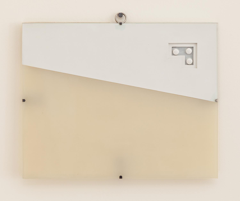 Michael Gonzalez   Untitled (Pill)   1990  Erasers,glass,plexiglass,pills  8 x 10 x 1/2 inches