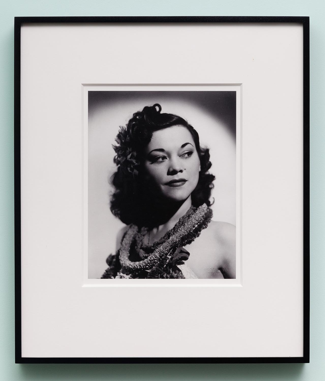 Miljohn Ruperto   Studio Portrait by Jose Reyes,Hollywood,CA 1940 (close-up,Polynesian)   2010  Photograph  10 x 8 inches