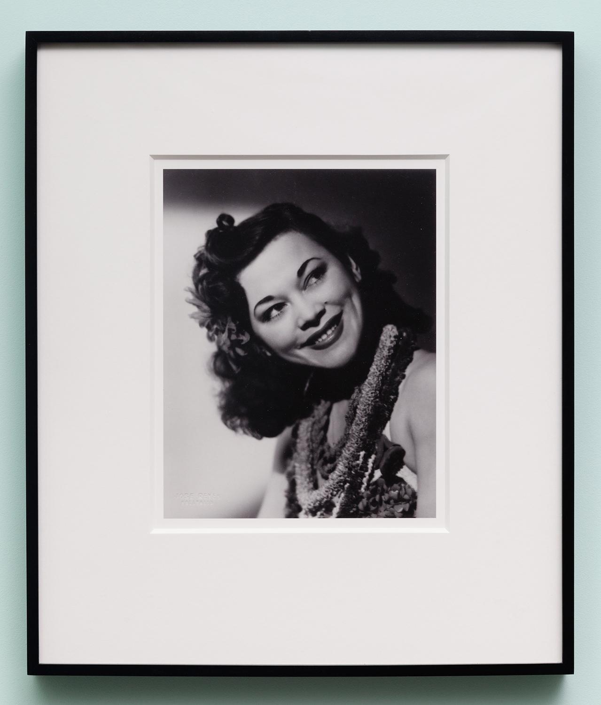 Miljohn Ruperto   Studio Portrait by Jose Reyes,Hollywood,CA 1940 (close up,Polynesian,tilt)   2010  Photograph  10 x 8 inches