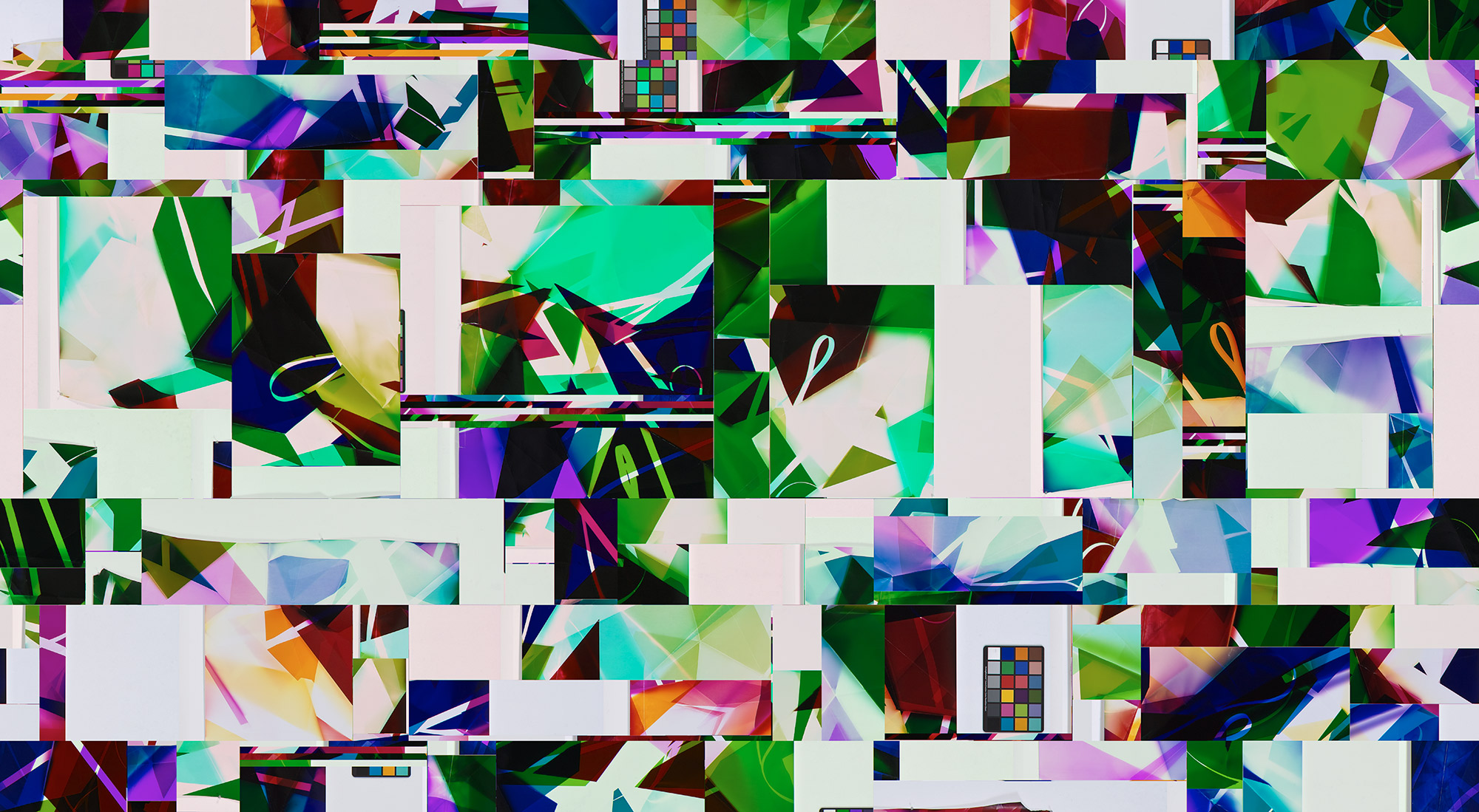 Walead_Beshty_50x109-896in_Supergloss_Lightjet_8inchesWhiteTop&Bottom 1.tif: 26-Feb-2009 6:45 Paper Type:50.0 inch Fuji_FLEX_SuperGLOSSy (w:10000 h: 25179 cr: 0,0,10000,25179 N 134), Walead_Beshty_50x109-896in_Supergloss_Lightjet_8inchesWhiteTop&Bottom 2.tif: 26-Feb-2009 9:04 Paper Type: 50.0 inch Fuji_FLEX_SuperGLOSSy (w:10000 h: 25179 cr:0,0,10000,25179 N 134), Walead_Beshty_50x109-896in_Supergloss_Lightjet_8inchesWhiteTop&Bottom 3.tif: 26-Feb-2009 6:45 Paper Type: 50.0 inch Fuji_FLEX_SuperGLOSSy (w:10000 h: 25179 cr: 0,0,10000,25179 N 134), Walead_Beshty_50x109-896in_Supergloss_Lightjet_8inchesWhiteTop&Bottom 4.tif: 26-Feb-2009 8:50 Paper Type: 50.0 inch Fuji_FLEX_SuperGLOSSy (w:10000 h: 25179 cr: 0,0,10000,25179 N 134) [20090113_cao_beshty_025b.tif, Six Color Loop (CMYRGB: Irvine, California, July 16th 2008, Fuji Crystal Archive Type C), 20090113_cao_beshty_026b.tif, Six Color Loop (CMYRGB: Irvine, California, July 26th 2008, Fuji Crystal Archive Type C),20090113_cao_beshty_027b.tif, Six Color Loop (CMYRGB: Irvine, California, July 18th 2008, Fuji Crystal Archive Type C)], 2009, digital image file     2009   Fuji Flex Super Gloss lightjet prints  133 15/16 x 200 inches each, 6 parts