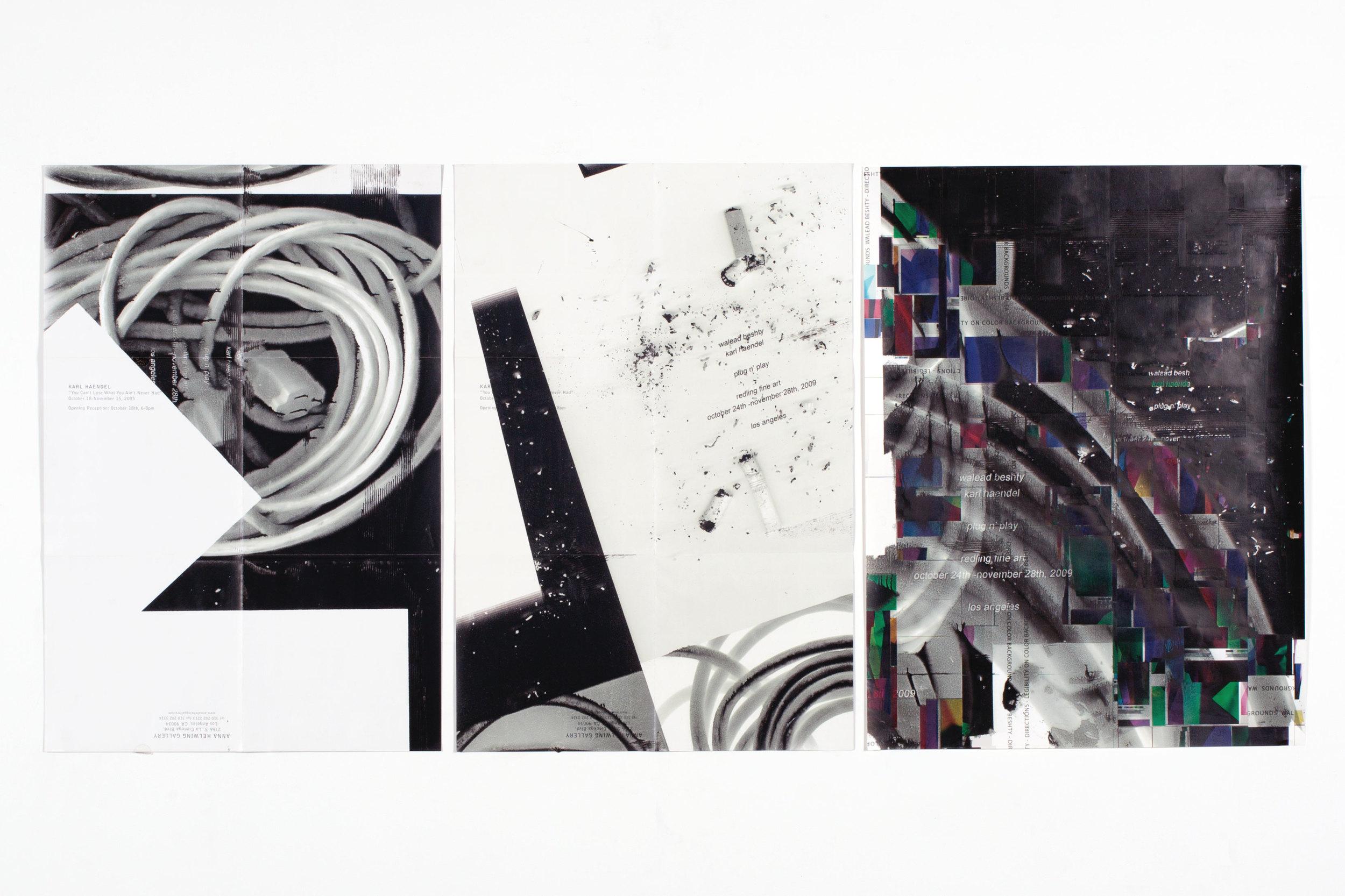 Plug n Play posters   With Karl Haendel  Redling Fine Art  Los Angeles  California  2009