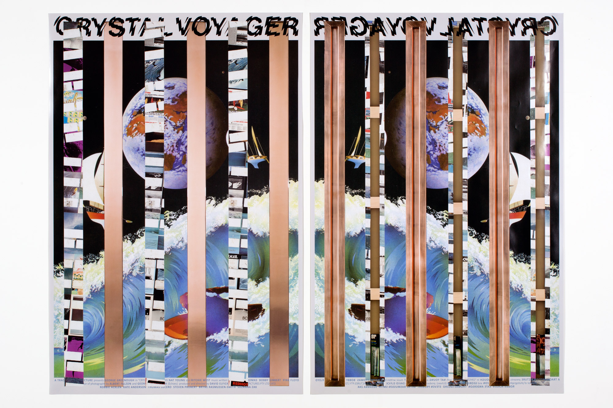 Crystal Voyager poster   With Kelley Walker  Paula Cooper Gallery  New York  New York  2014