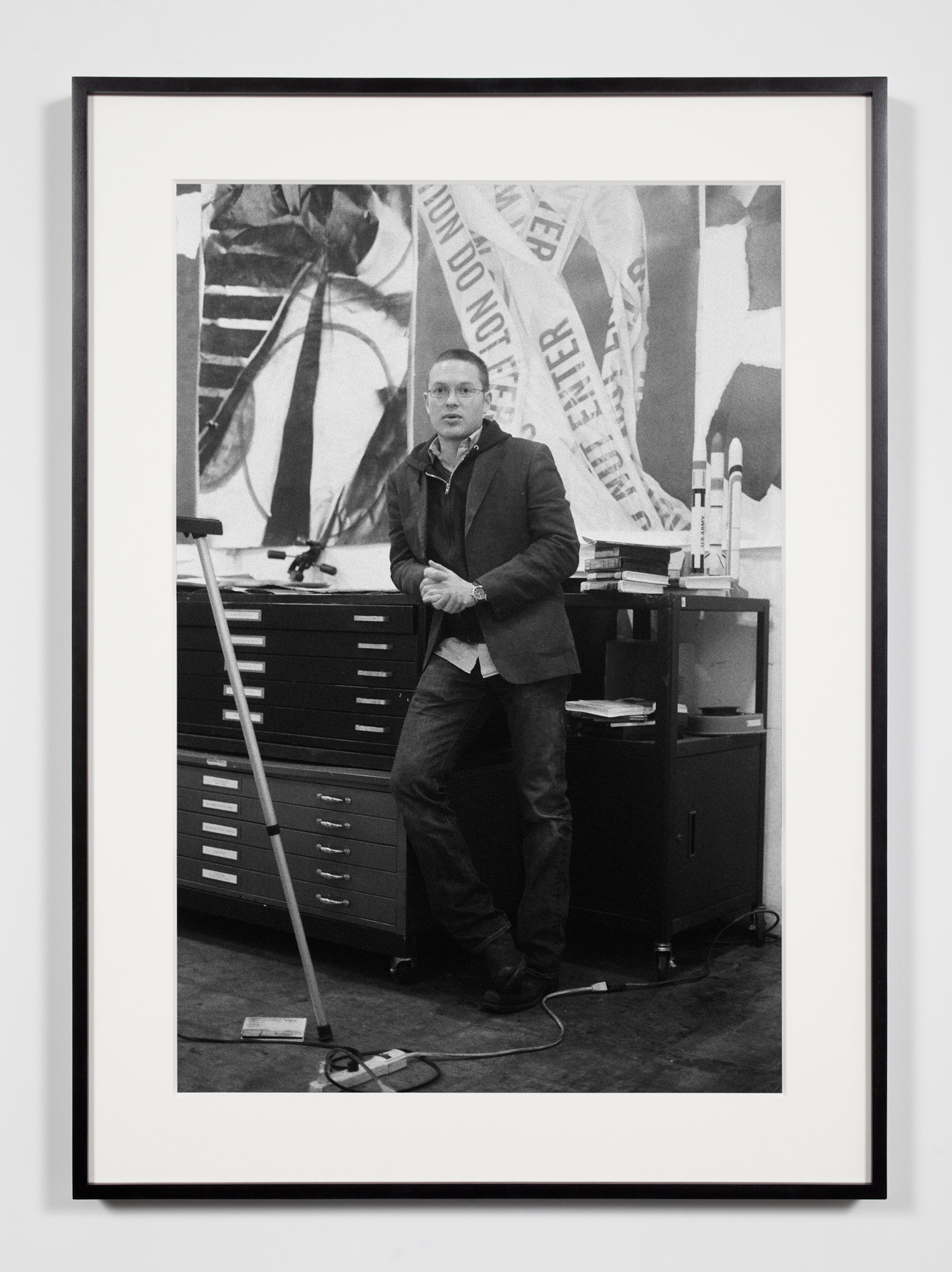 Artist (KFH), Los Angeles, California, February 8, 2009    2009   Epson Ultrachrome K3 archival ink jet print on Hahnemühle Photo Rag paper  36 3/8 x 26 3/8 inches   Industrial Portraits, 2008–