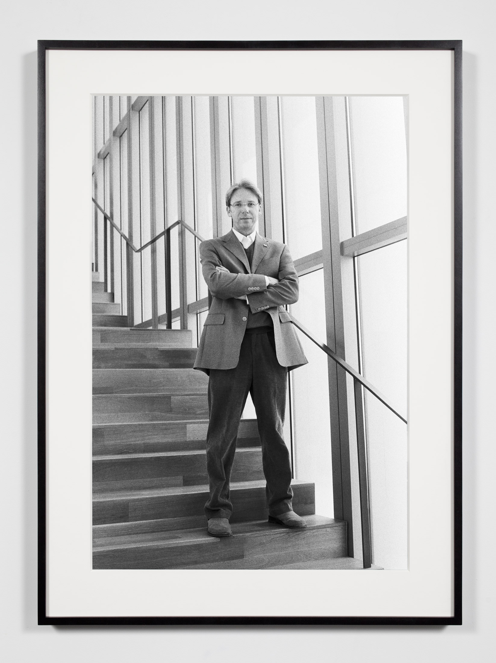 University Museum Director, Ann Arbor, Michigan, March 28, 2009    2011   Epson Ultrachrome K3 archival ink jet print on Hahnemühle Photo Rag paper  36 3/8 x 26 3/8 inches   Industrial Portraits, 2008–