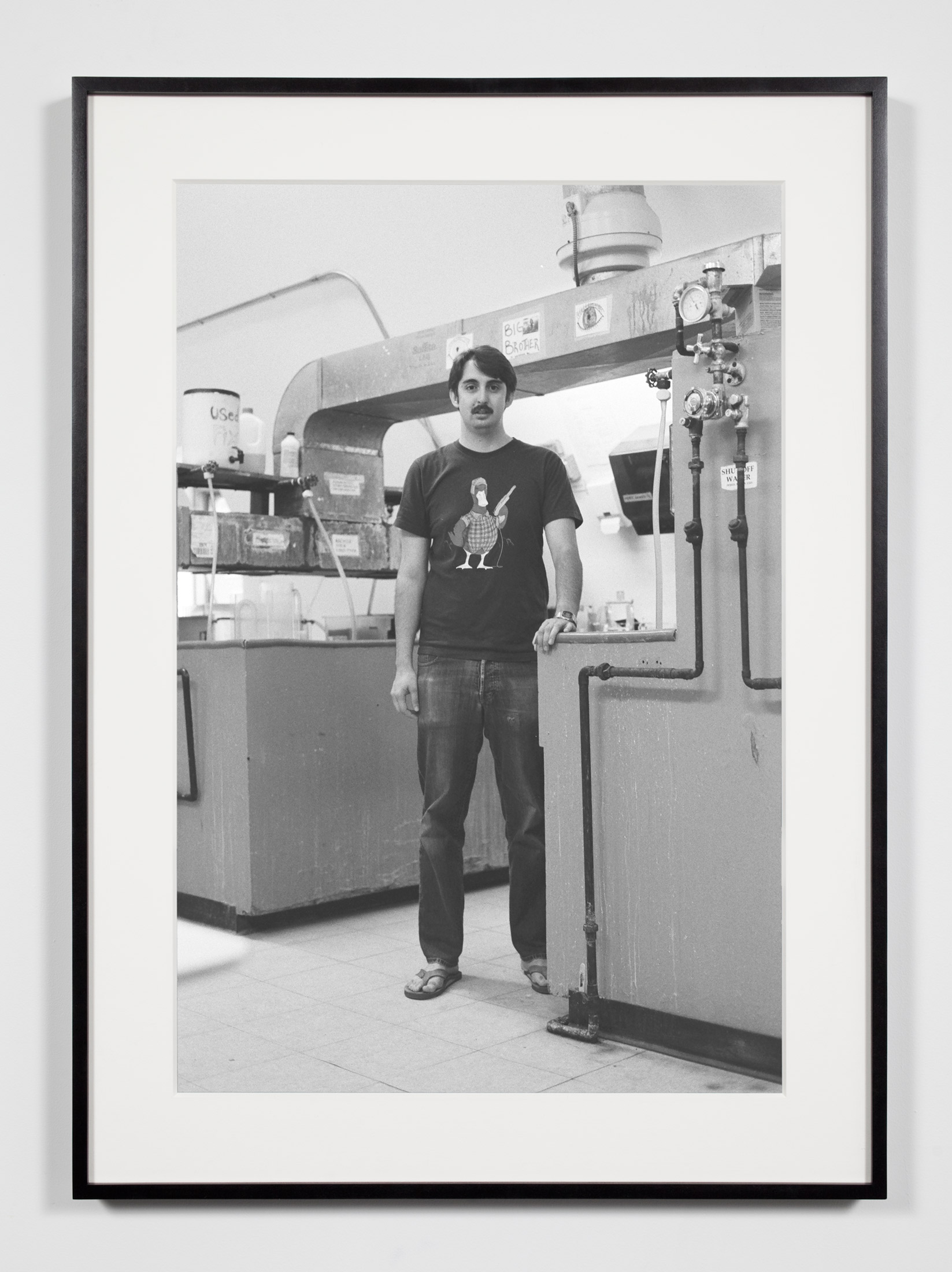 College Darkroom Technician, Annandale-on-Hudson, New York, July 11, 2009    2011   Epson Ultrachrome K3 archival ink jet print on Hahnemühle Photo Rag paper  36 3/8 x 26 3/8 inches   Industrial Portraits, 2008–