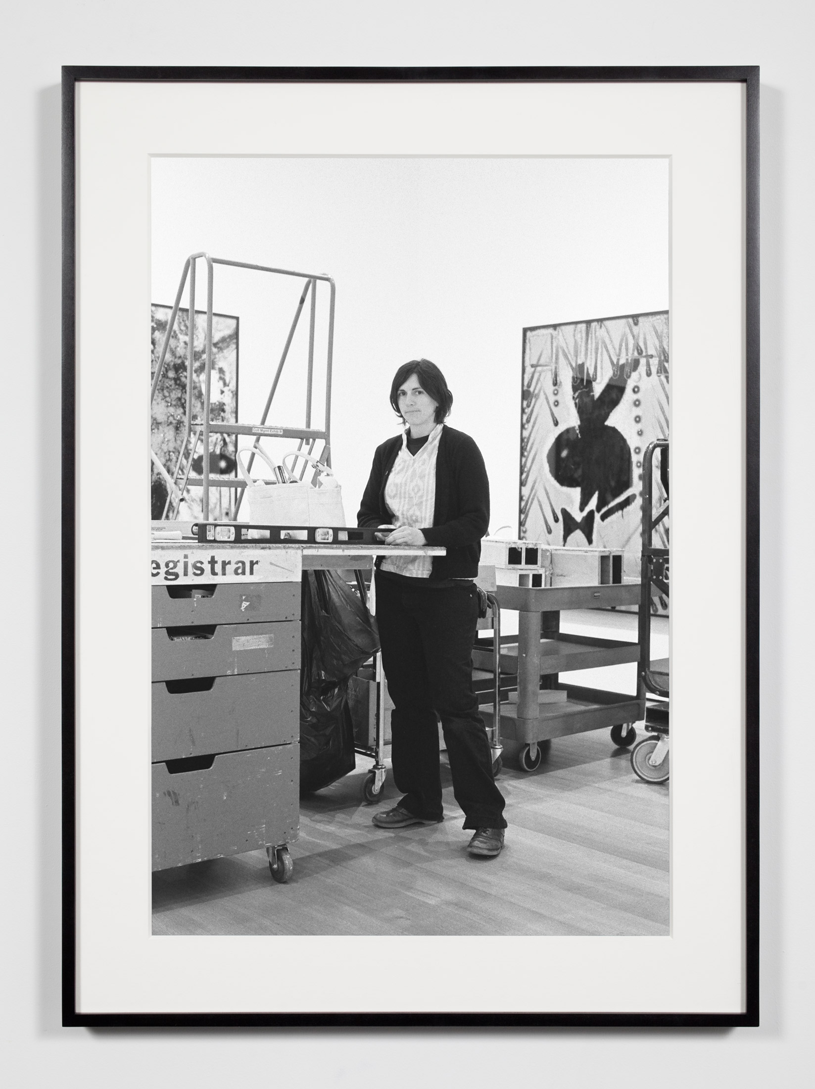 Museum Preparator, New York, New York, September 26, 2009    2011   Epson Ultrachrome K3 archival ink jet print on Hahnemühle Photo Rag paper  36 3/8 x 26 3/8 inches   Industrial Portraits, 2008–