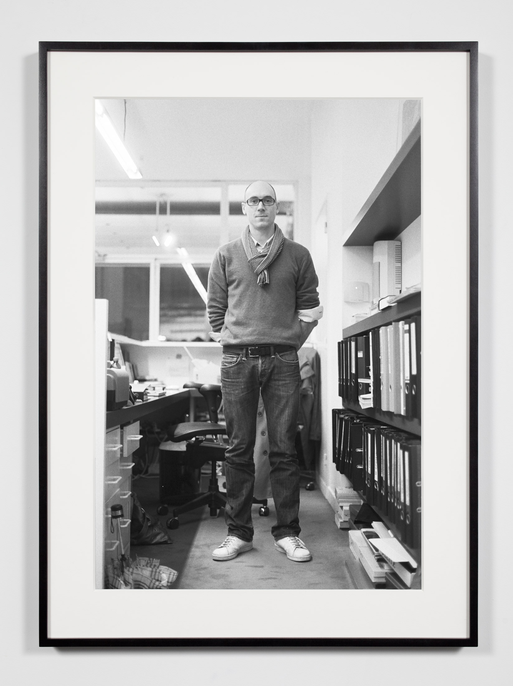 Gallery Operations and Logistics Manager, Brussels, Belgium, November 6, 2008    2011   Epson Ultrachrome K3 archival ink jet print on Hahnemühle Photo Rag paper  36 3/8 x 26 3/8 inches   Industrial Portraits, 2008–