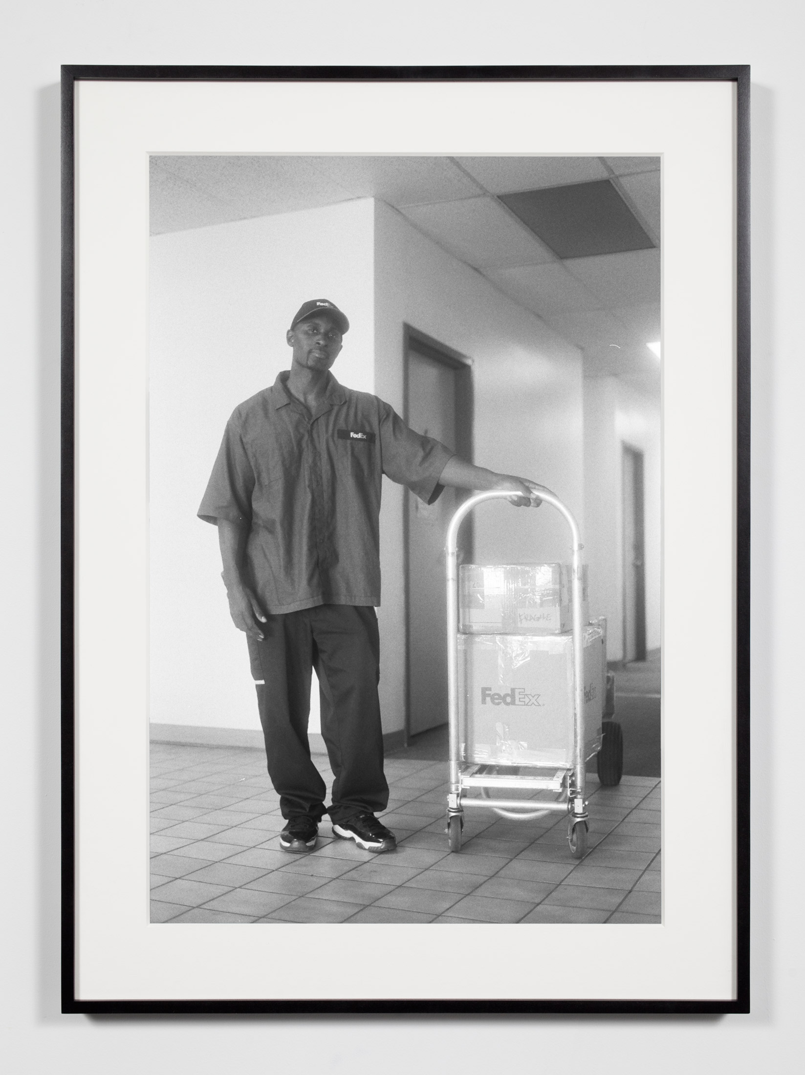 FedEx Courier, Los Angeles, California, September 12, 2008    2011   Epson Ultrachrome K3 archival ink jet print on Hahnemühle Photo Rag paper  36 3/8 x 26 3/8 inches   Industrial Portraits, 2008–
