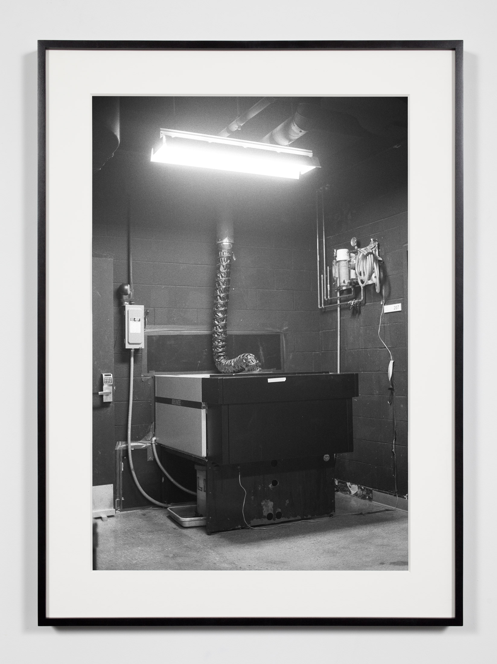 College Darkroom, Color Photographic Processor, Chicago, Illinois, August 21, 2008    2011   Epson Ultrachrome K3 archival ink jet print on Hahnemühle Photo Rag paper  36 3/8 x 26 3/8 inches   Industrial Portraits, 2008–